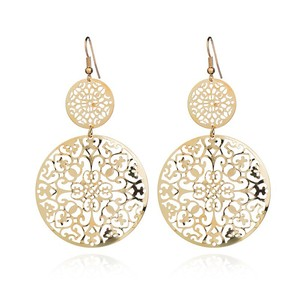 gold simple earrings for women jewelry wholesale N80789
