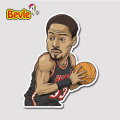 Bevle 9346 NBA Bastetball Super Star Alonzo Mourning Waterproof Stickers Laptop Luggage Fridge Car Graffiti Cartoon