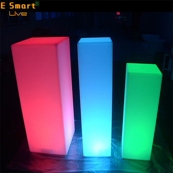 Led Multi Color Light Column Towers Up Pillar Decorations For Wedding Party