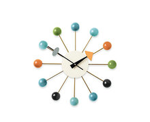 Replica designer modern luxury home decorative wooden balls wall clocks by solid wood
