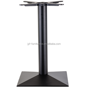 wooden table wrought iron base