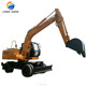 15 Ton 4 WD Wheel Type Excavator Digger Machines For Construction