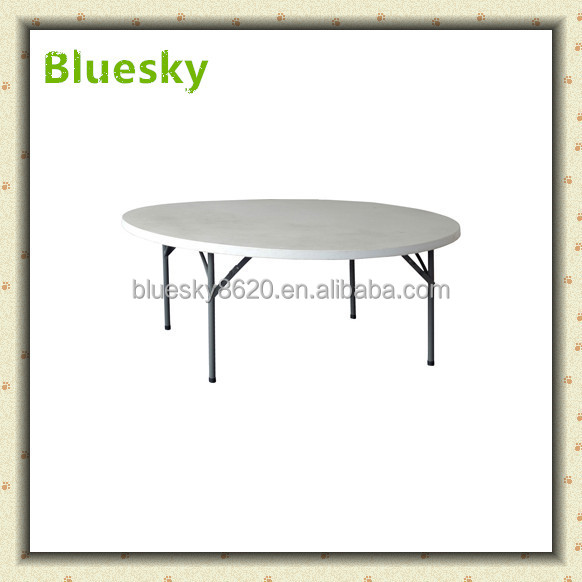 5.1ft No folded round folding tables Plastic Round table for Banquet Garden Restaurant Wedding