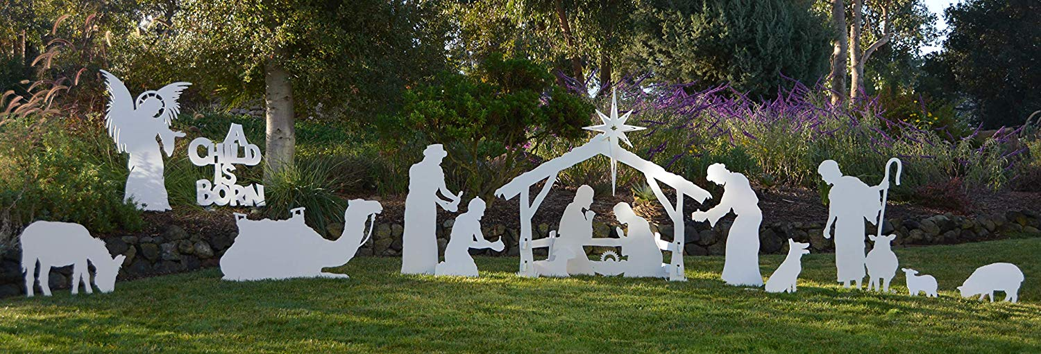 Know nothing Outdoor nativity sets apologise, but