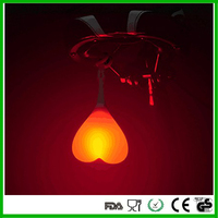Creative silicone egg light for bike and bicycle