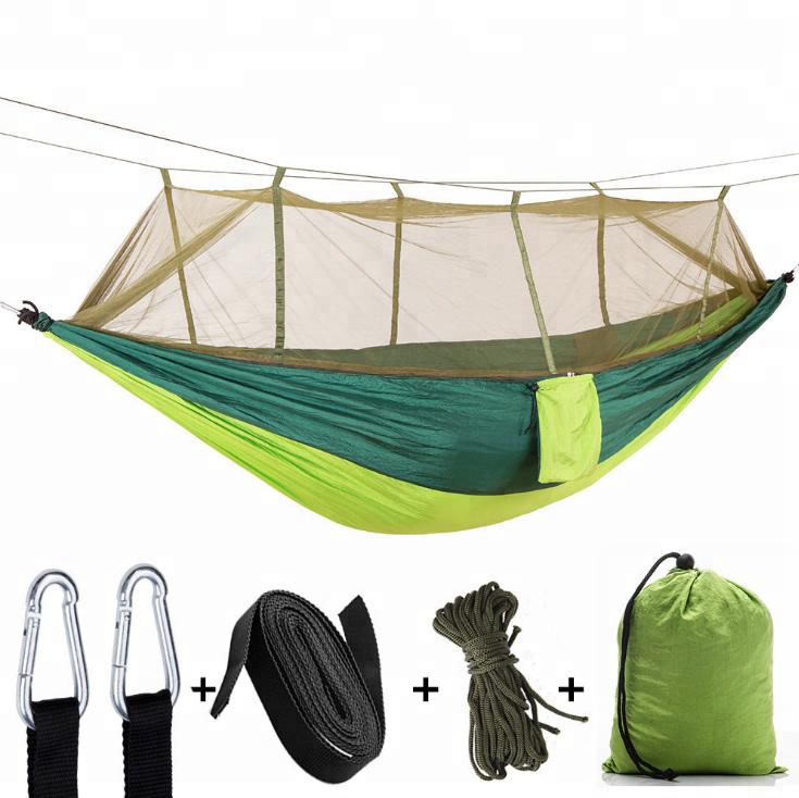 Outdoor moskito multi-farbe net nylon tragbare camping hängematte für einige entspannen