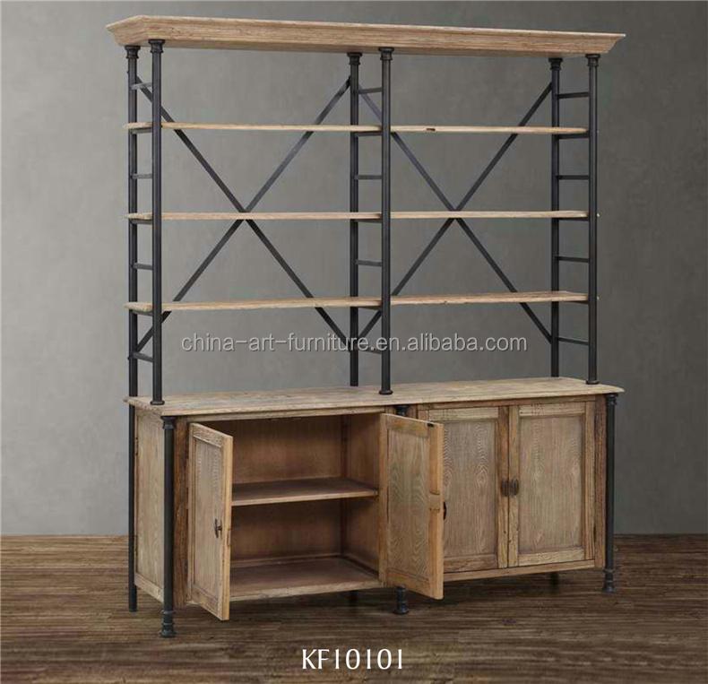 apperence estantera con gabinete de la base industrial antiguos muebles de sala de estudio disply