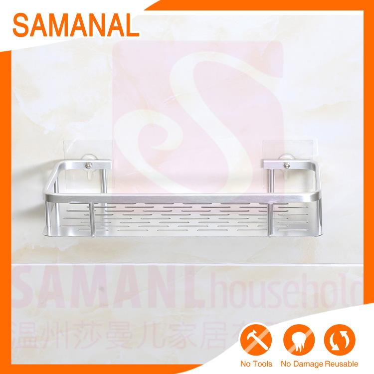 de aluminio de cocina bao ducha caddy estante de cesta estante caddy