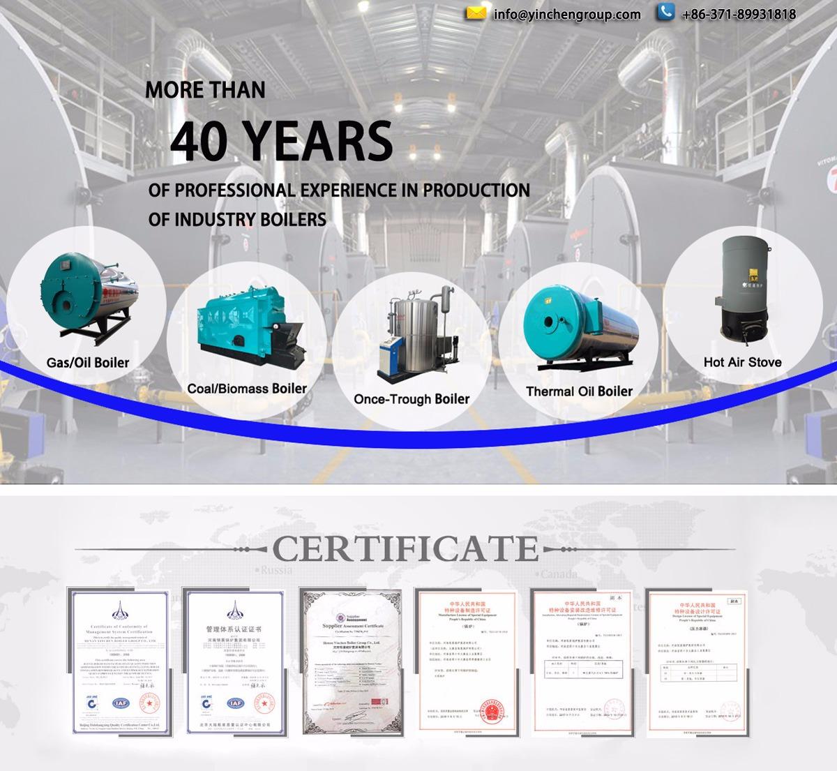 Henan Yinchen Boiler Group Co., Ltd. - Steam Boiler, Hot Water Boiler