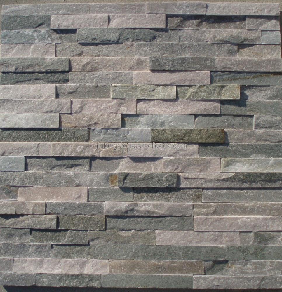 Exterior natural fachada de piedra en la pizarra pizarra - Revestimiento en piedra para exterior ...