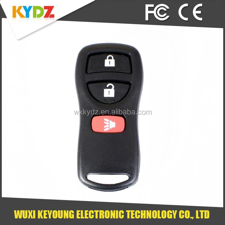 3 button keyless entry car remote start <strong>key</strong> for Nissan/Murano