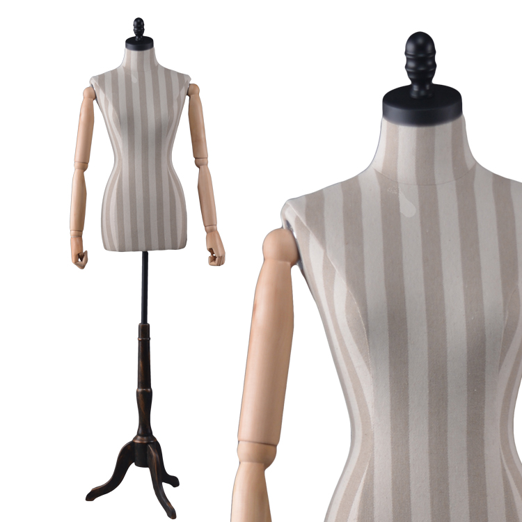 STAND-TRADE SHOW TORSO DISPLAY WOMEN DRESS SHIRT FEMALE MANNEQUIN FORM WHITE