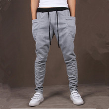 8 Colors 2014 Unique Pocket Mens Jogger Pants Cargo Sweatpants Men Outdoors Jogging Sport Pants Hip Hop Dance Harem Pants Men