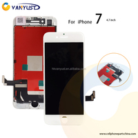 Mobile phone Lcd Screen For Iphone 7 With Digitizer Assembly WHITE Free DHL