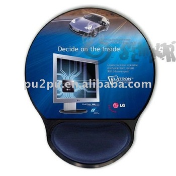 promotional gift silicon/gel mouse pad with wrist support