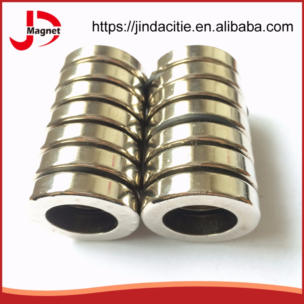 High grade super strong N52 32*22*5mm neodymium magnet ring coating Ni