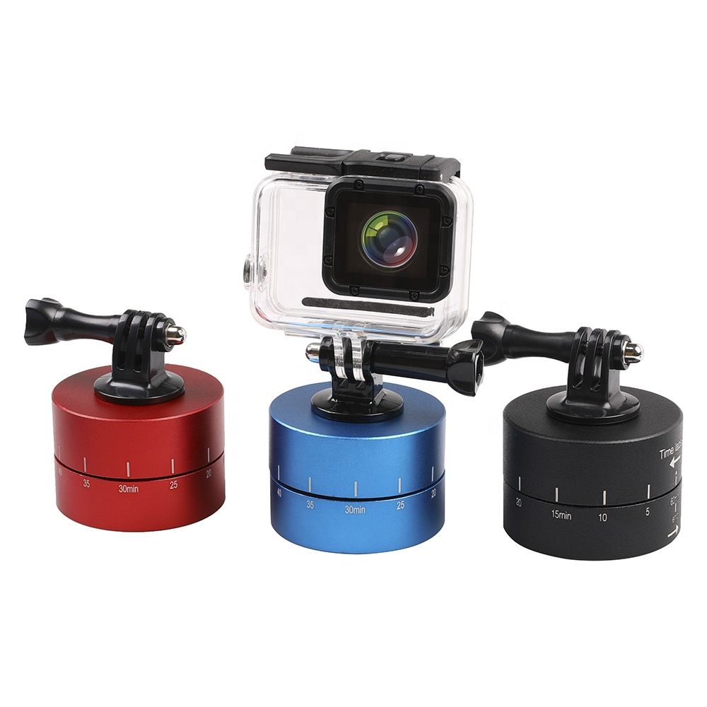 Kaliou Time Lapse Shooting 60min Timer 360 Degree Rotating Tripod Delay Stabilizer Tilt Head for Gopros Black Red Blue фото