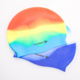 Colorful printed lightweight silicone latex swim caps easy to put on