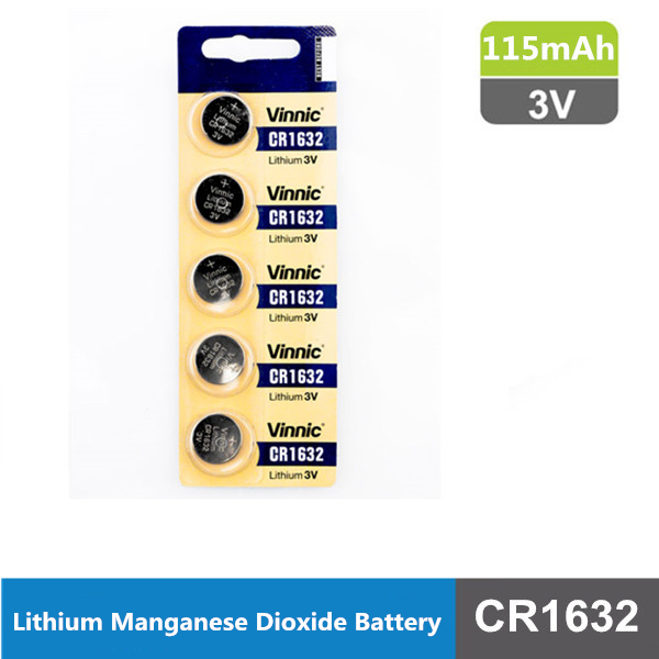 CR1632 3v 115mah lithium manganese dioxide button cell