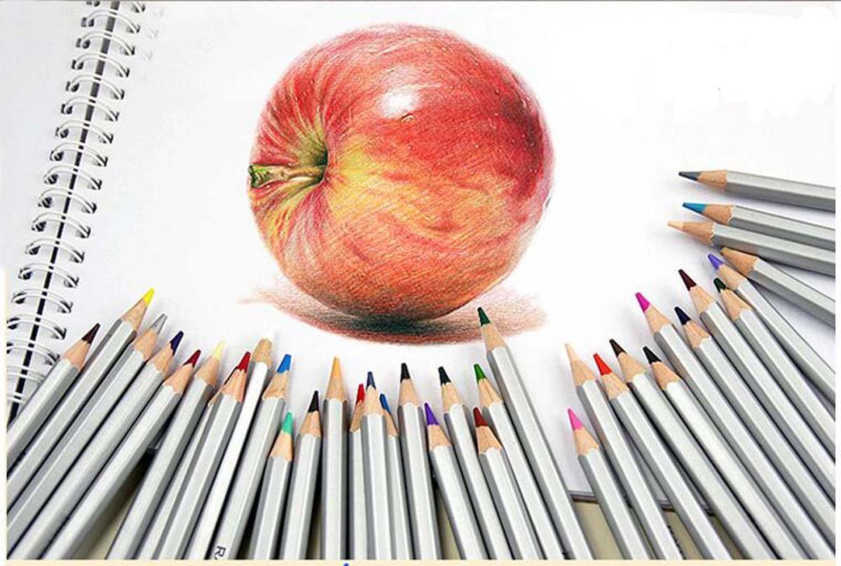 Bbshop 72-color Professional Art Drawing Pencils Fine Art Colored Pencils/ Drawing Pencils for Sketch/In Metal Gift Box