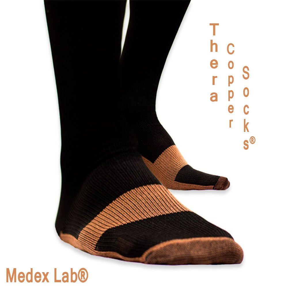 875e4e2d15 Get Quotations · Medex Lab Thera Copper Compression Socks: Calves High Copper  Compression Socks Aid in Blood Circulation