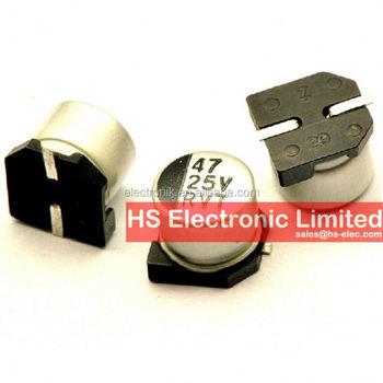 Smd Aluminum Capacitors 25v 47uf Size 6 5mm Buy Smd