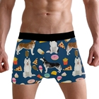 Custom Puppy Printed Adult Males Boxer Briefs Young Men Middle Waist Underwear