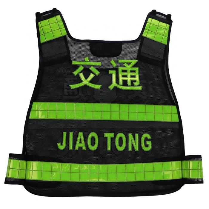 Mesh reflective vest/Black reflective <strong>safety</strong> vest/Polyester reflective <strong>safety</strong>
