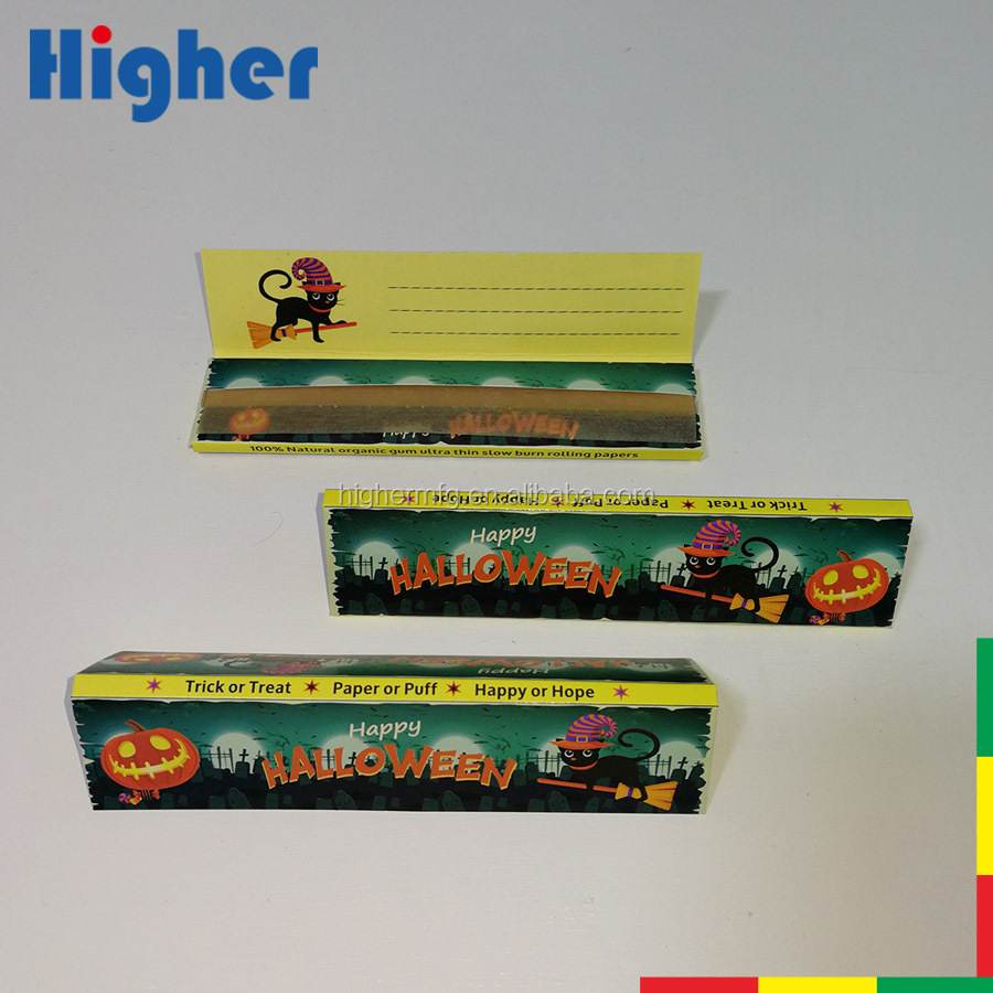 Happy Halloween holiday celebration promotional OEM smoking rolling paper for tobacco