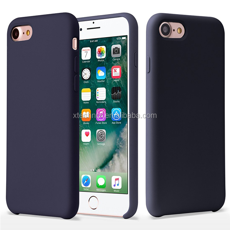 Original Premium Liquid Silicone Gel Rubber Protective Case for iPhone 7 4.7inch
