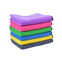 High plush microfiber car auto detailing cleaning plush towel