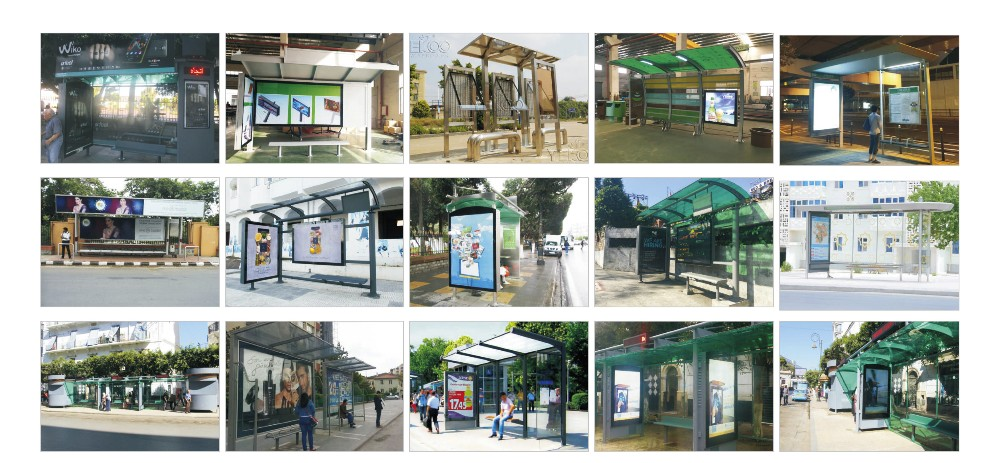 product-Customized dimensions stainless steel bus stop shelter-YEROO-img-6