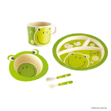 Joyhome Bamboo fiber Child Dinnerware Kids Gift Set