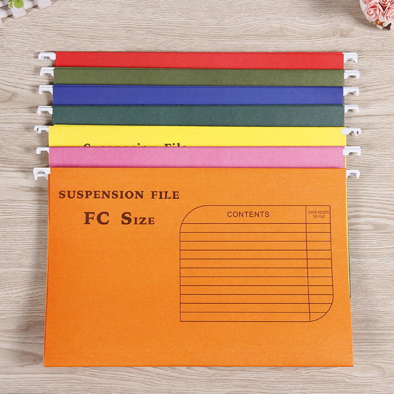 2017 high quality A4 file folders/paper Suspension files/Hanging file colorful