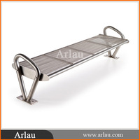 Durable Silver Powder Coated Iron Garden Bench