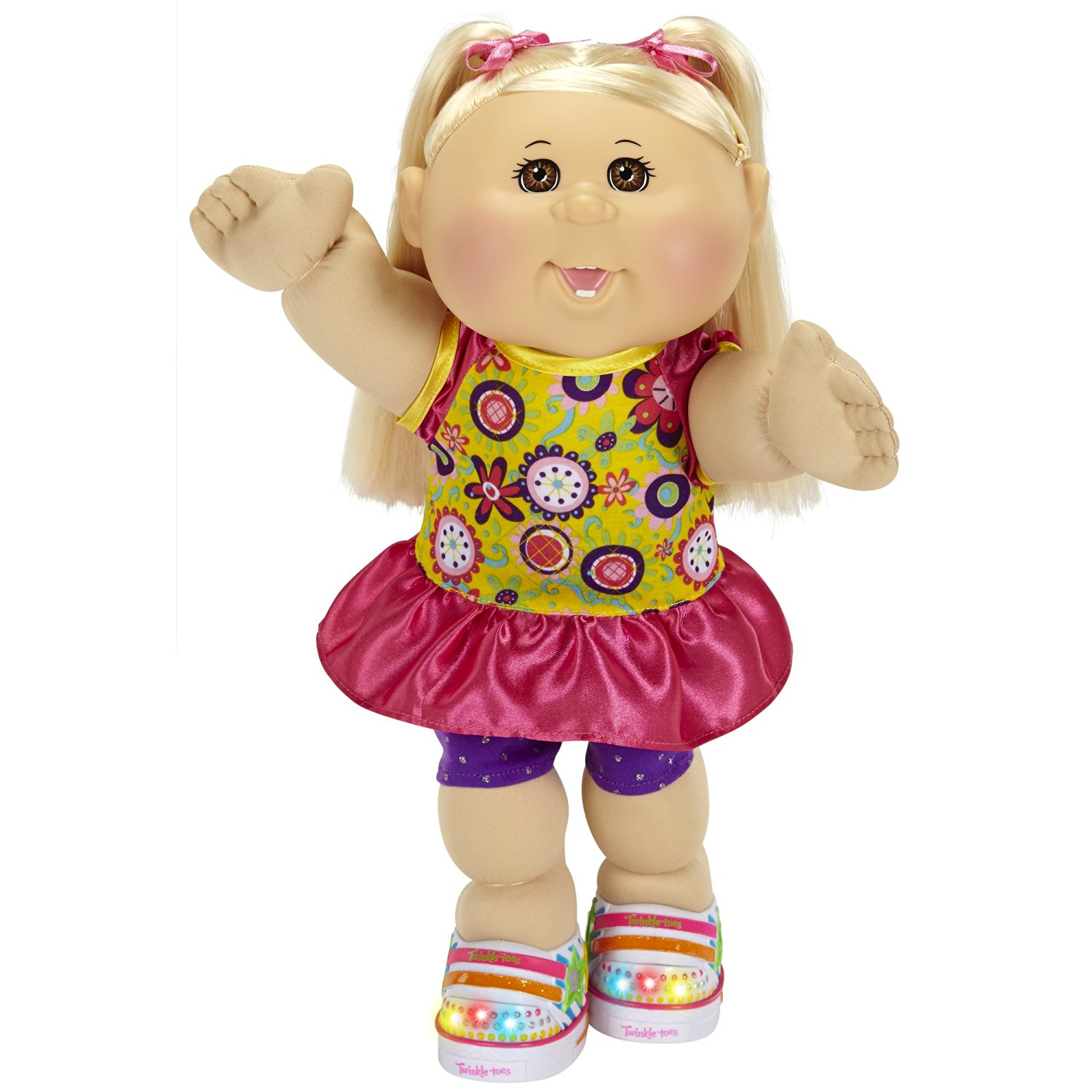 Cabbage Patch Kids Twinkle Toes: Caucasian Girl Doll, Blonde, Brown Eyes