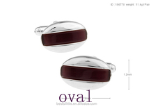 High Quality oval Wood Cufflinks With pure material quality