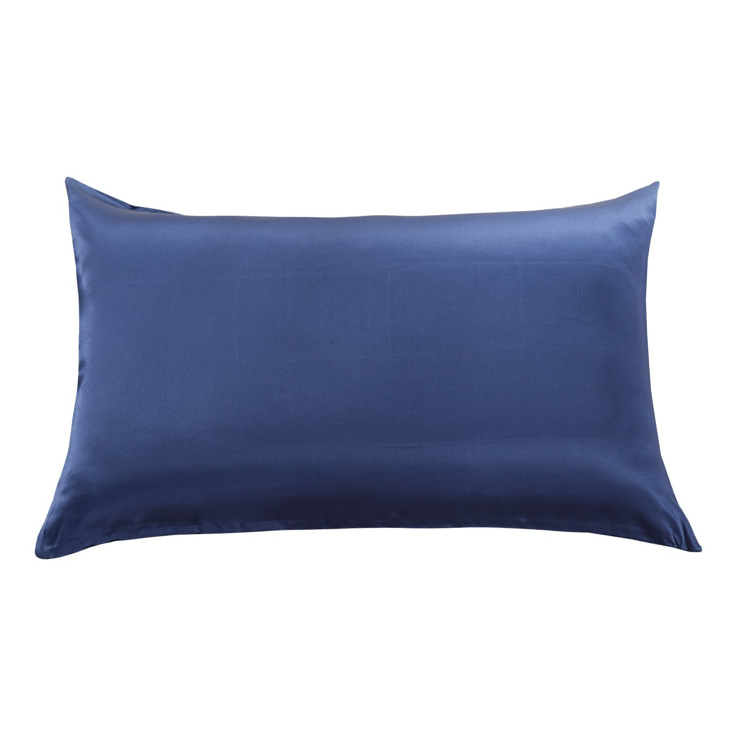 Orose 22mm Luxury Mulberry Silk Pillowcase, Good for Hair and Facial Beauty, Prevent from Wrinkle and Allergy, 100% Silk on Both Sides, Gift Wrap,1Pc (Standard, navy blue)