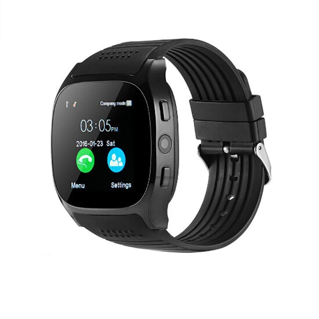 Daily Waterproof BT 3.0 Smart Watch Support Sim and TF Card Camera for Android & iPhone Sports Pedometer Sleeping Tracker Sedentary Reminder Fitness Tracker