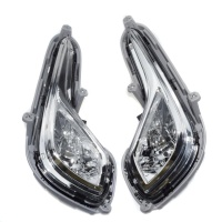 Chrome Led Clear Bumper Fog Lights Lamps Fit For Hyundai Accent 2012-2016