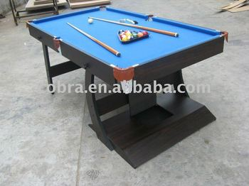 Kbla Small Size Folding Pool Table With Full Sets Accessories - Fold up pool table full size