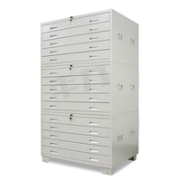 Welding Structure 5, 10, 15 Drawers Parts Storage Flat File Cabinet