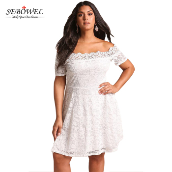 809deaa2ee79 White Off Shoulder Fat Women Lace Dress Patterns - Buy Fat Women ...
