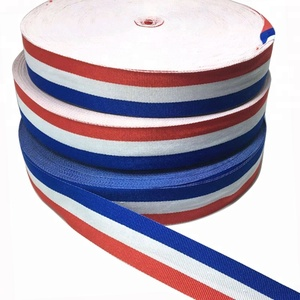 3CM Red White Blue Grosgrain Stripe Medal Ribbon