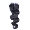 Brazilian remy hair middle part lace closure hair weave