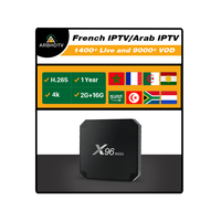 X96 MINI Best Buy Arabic Android Media TV Box 2GB 16GB with ARBHDTV IPTV Code 1 Year Arabic Channels