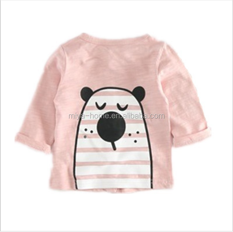 Fashion cute Cartoon baby air conditioning shirt pure cotton coat / Children's tops For Spring Outerwear