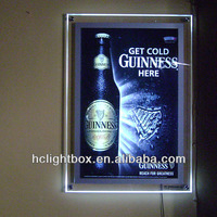 A4 Led Wall-mounted Slim Acrylic Box Picture Frame Or 2 Sided ...