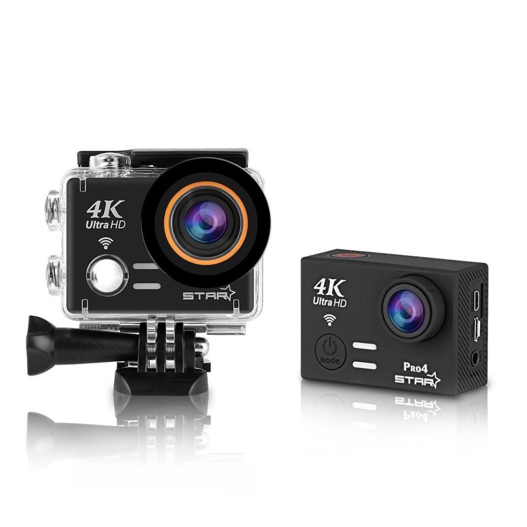Sports Action Camera 4K Waterproof Wifi Full HD 60fps 30fps