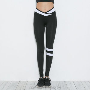 2017 Autumn New Design Black Polyester Weave Leggings For Women